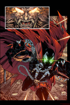 Spawn coloring book sample color