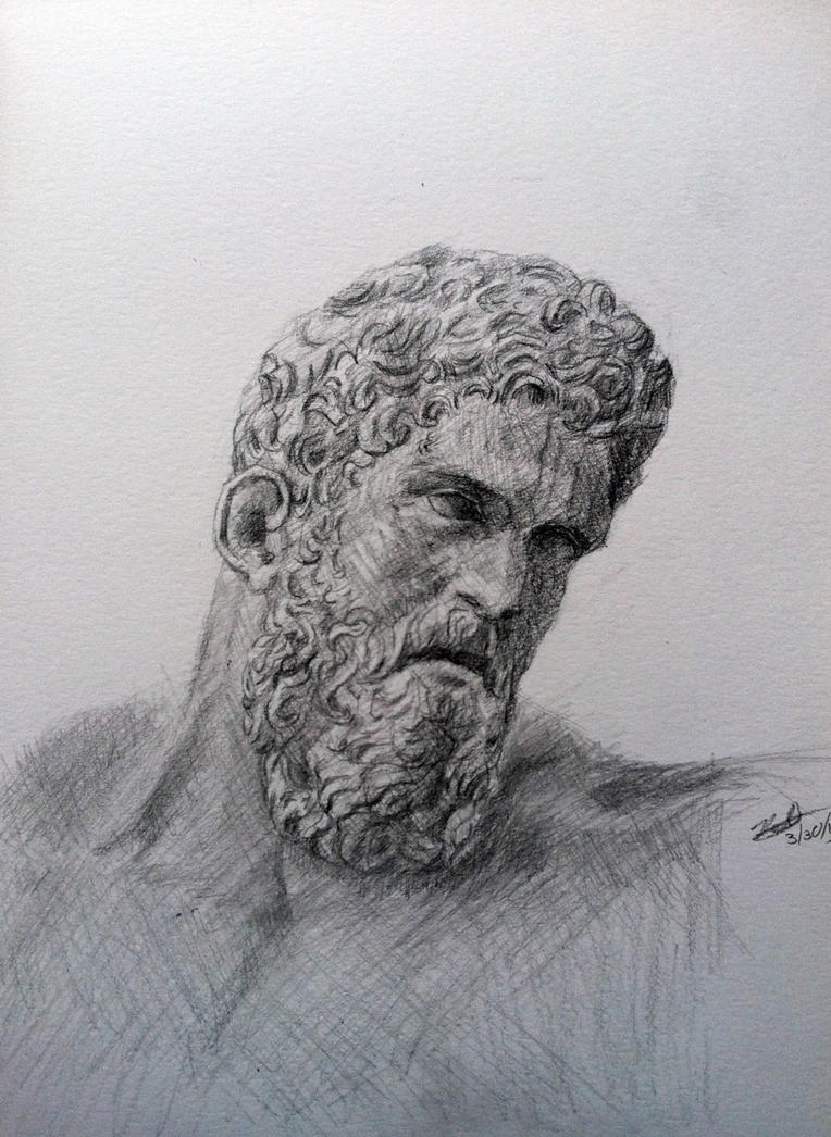 Statue Drawing by Lodac