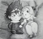Hiei and... Sumomo?