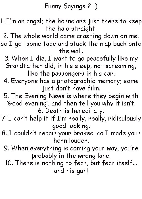 Very Funny Pictures With Sayings Funny Sayings 2 by