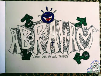 Graffiti Abraham With Smiley by abeLuna