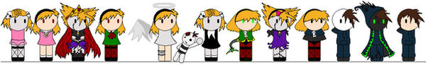 Grim Tales chibis by MythrilComics