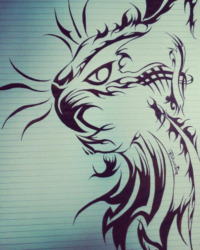Cat tribal  by DrumArt