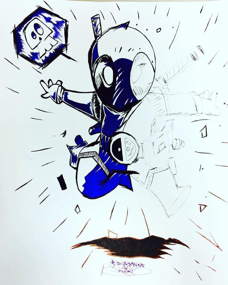 Deadpool draw by DrumArt