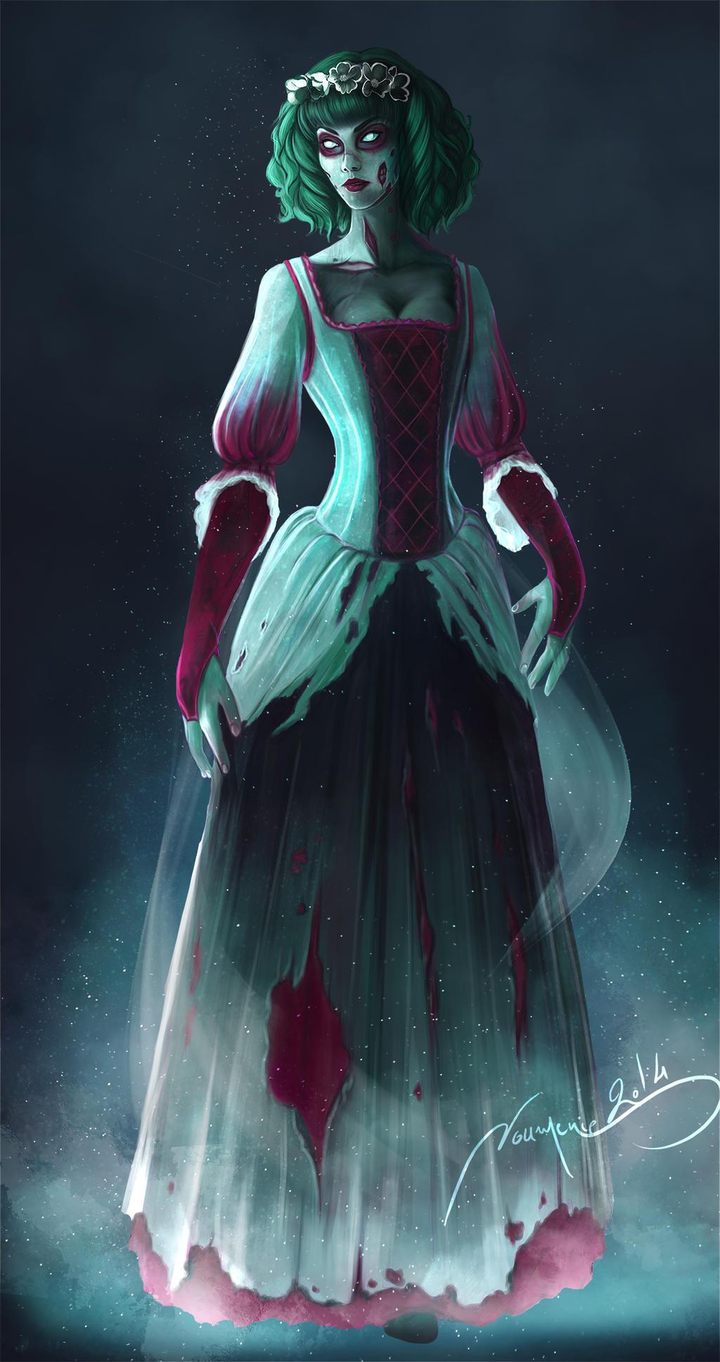 Nos créaZions - Page 18 Zombie_girl___3_4_face___indie_project_by_noumenie-d80ik2j