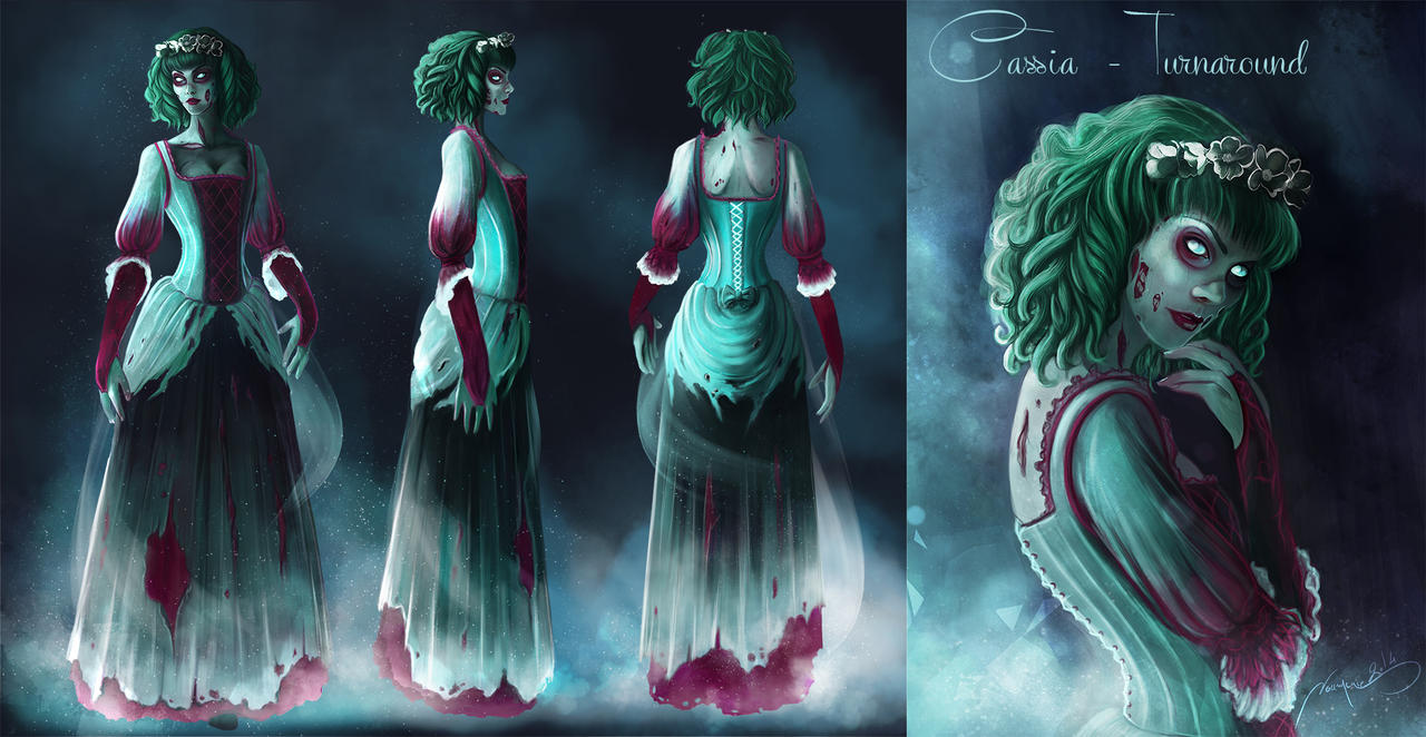 Nos créaZions - Page 18 Zombie_girl___line_up_done___indie_project_by_noumenie-d80qia7