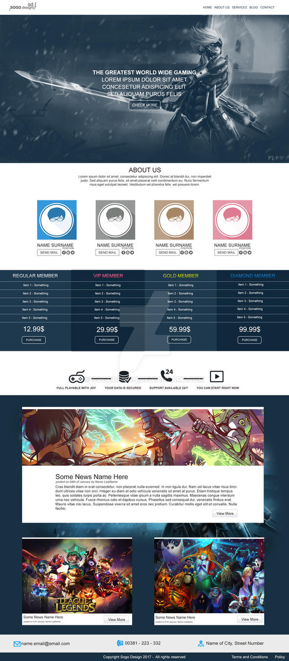 Gaming Website by Sogo by SogoDesign