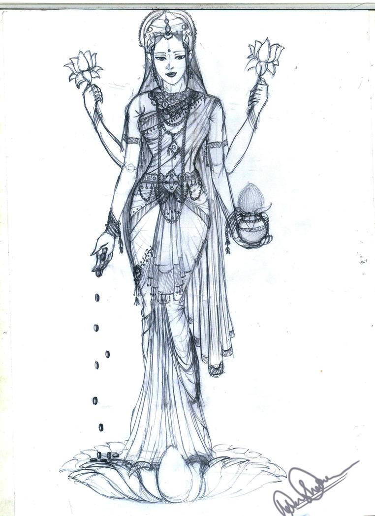 goddess lakshmi by 0manisha on deviantart. Black Bedroom Furniture Sets. Home Design Ideas