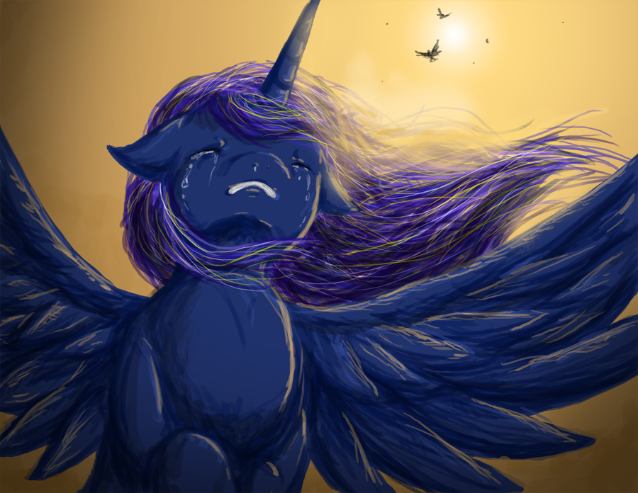 Sad Luna Doodle by Chiibe