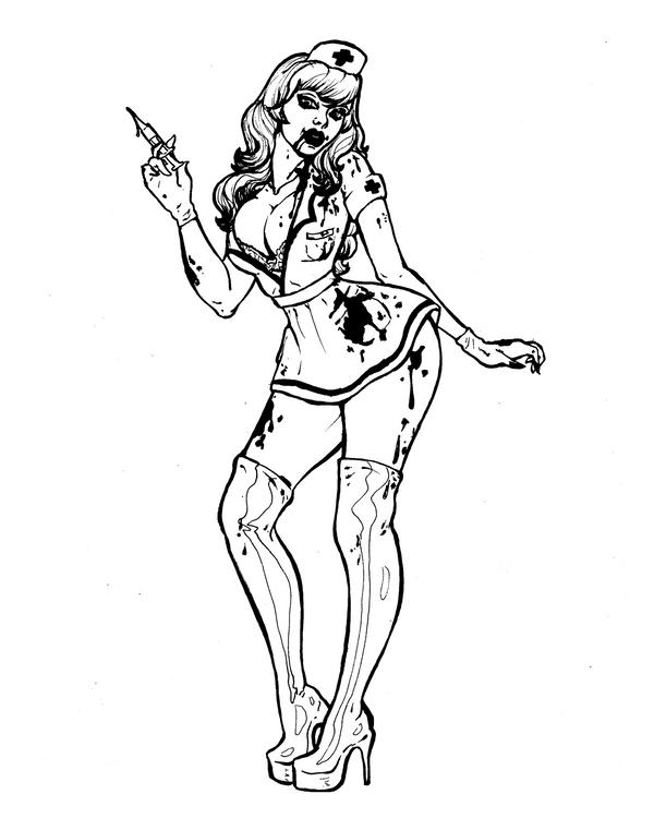 Inktober 29-The Nurse by Dark-Drac