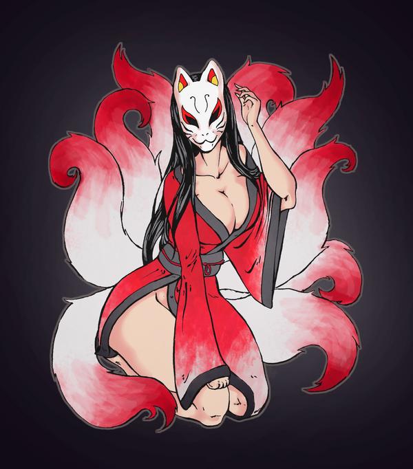The Kitsune by Dark-Drac