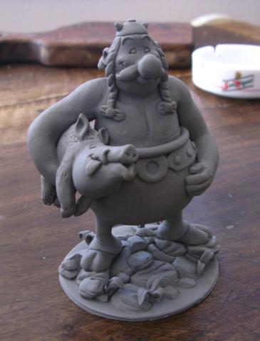 Obelix sculpture by yotaro-sculpts