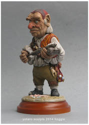 Hoggle sculpture clay 2 labyrinth by yotaro-sculpts