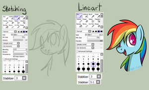 Saber-Panda: How I Lineart