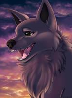 Sunset Doggo by ezpups