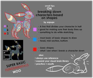 Character Shape Breakdown (Tutorial) by ezpups