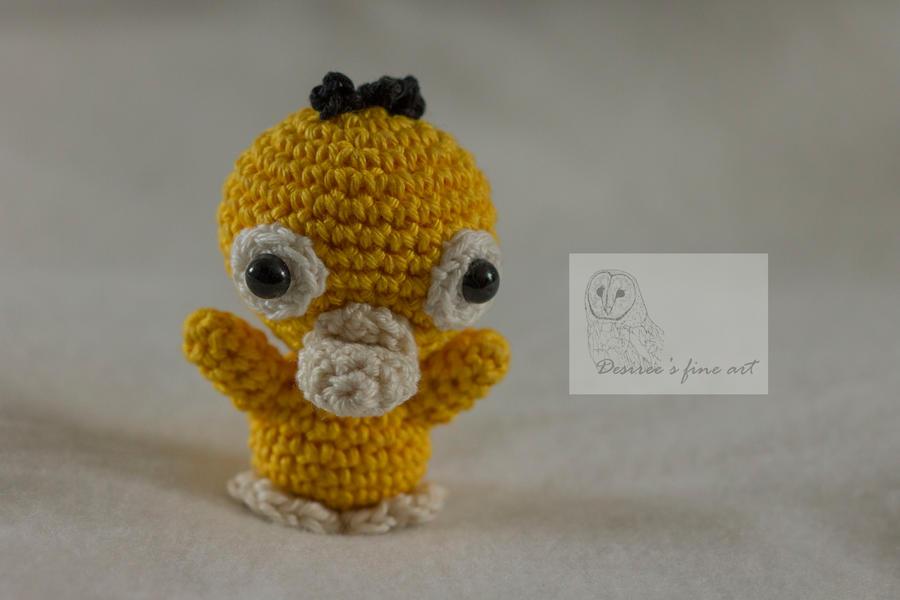 Psyduck Mini Crochet Pattern By Desireegaalfineart On Deviantart