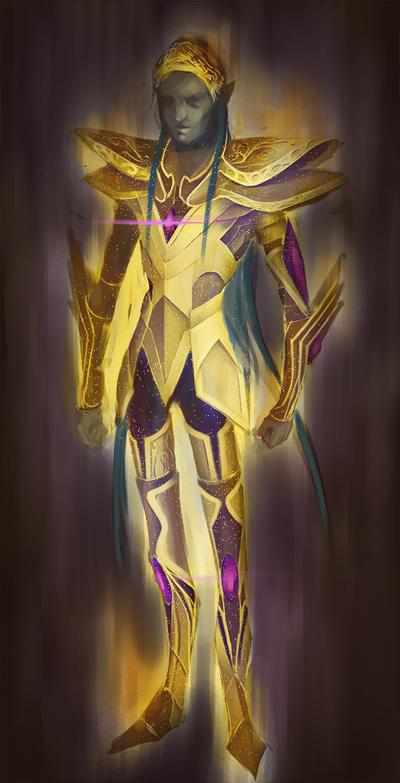 Golden Knight by peanutbutterman