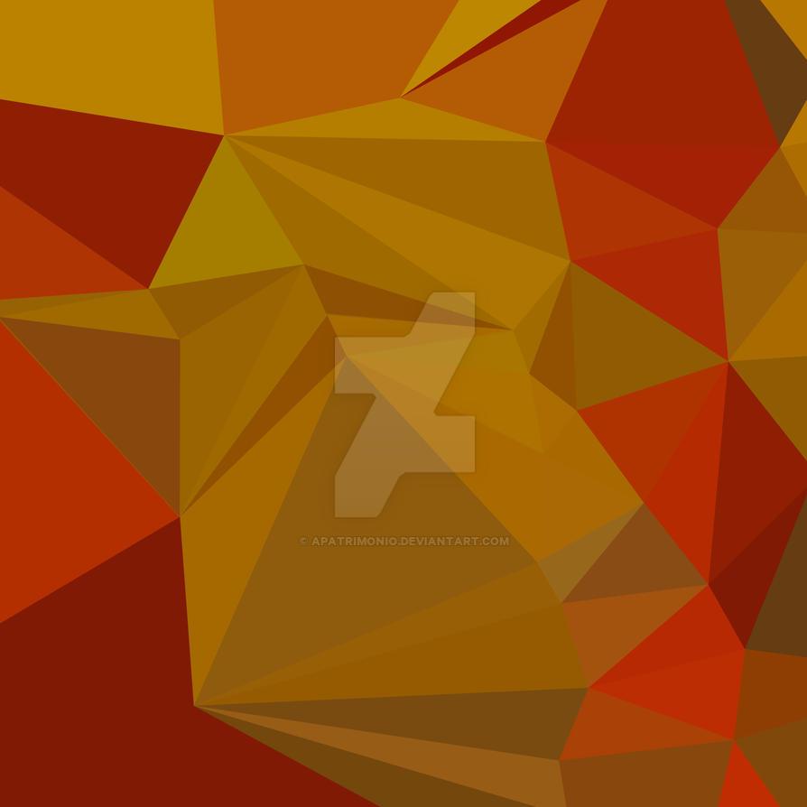 Tenne Tawny Orange Abstract Low Polygon Background by apatrimonio