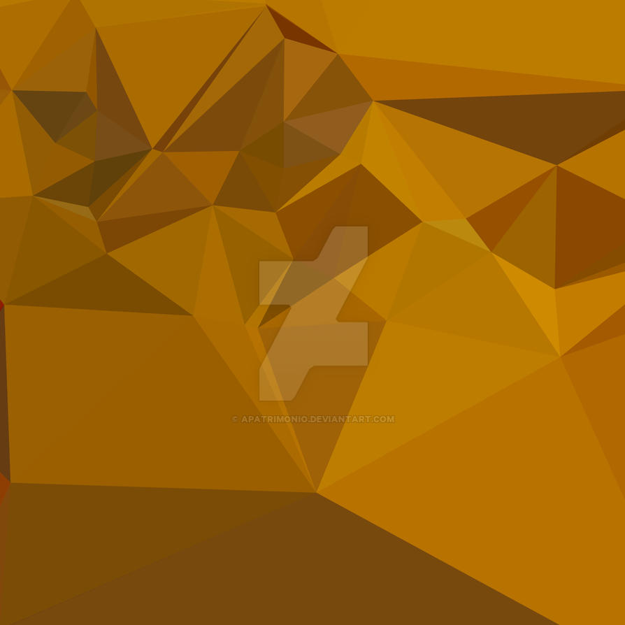 Curry Yellow Abstract Low Polygon Background by apatrimonio