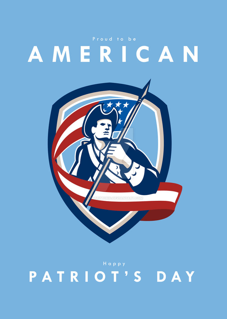 Patriots Day Greeting Card American Patriot Soldie by apatrimonio on ...