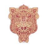 Tiger Head Mandala