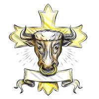 Bullock Head Christian Cross