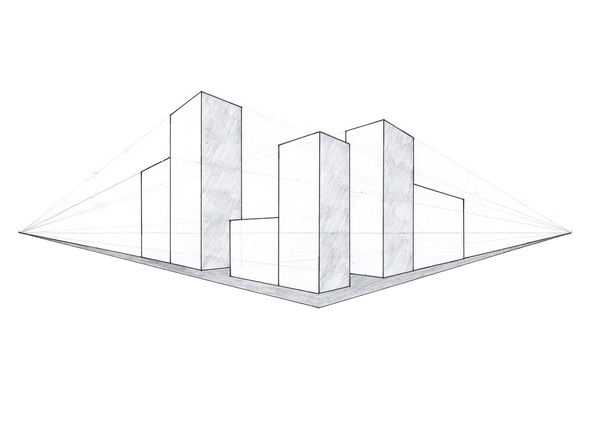 perspective study two point city front by heyan88 on deviantart