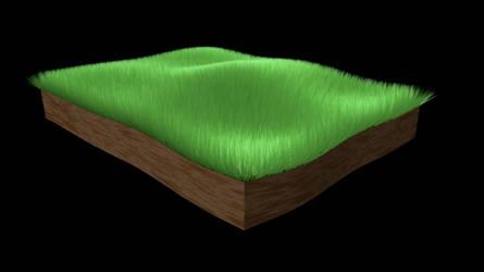 3D Grass by LatteQueen