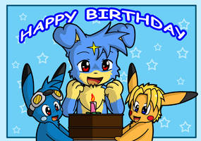 Happy Birthday Lilvee by Coshi-Dragonite