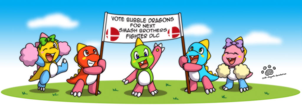 Vote for Bubble Dragons in smash brothers DLC by Coshi-Dragonite