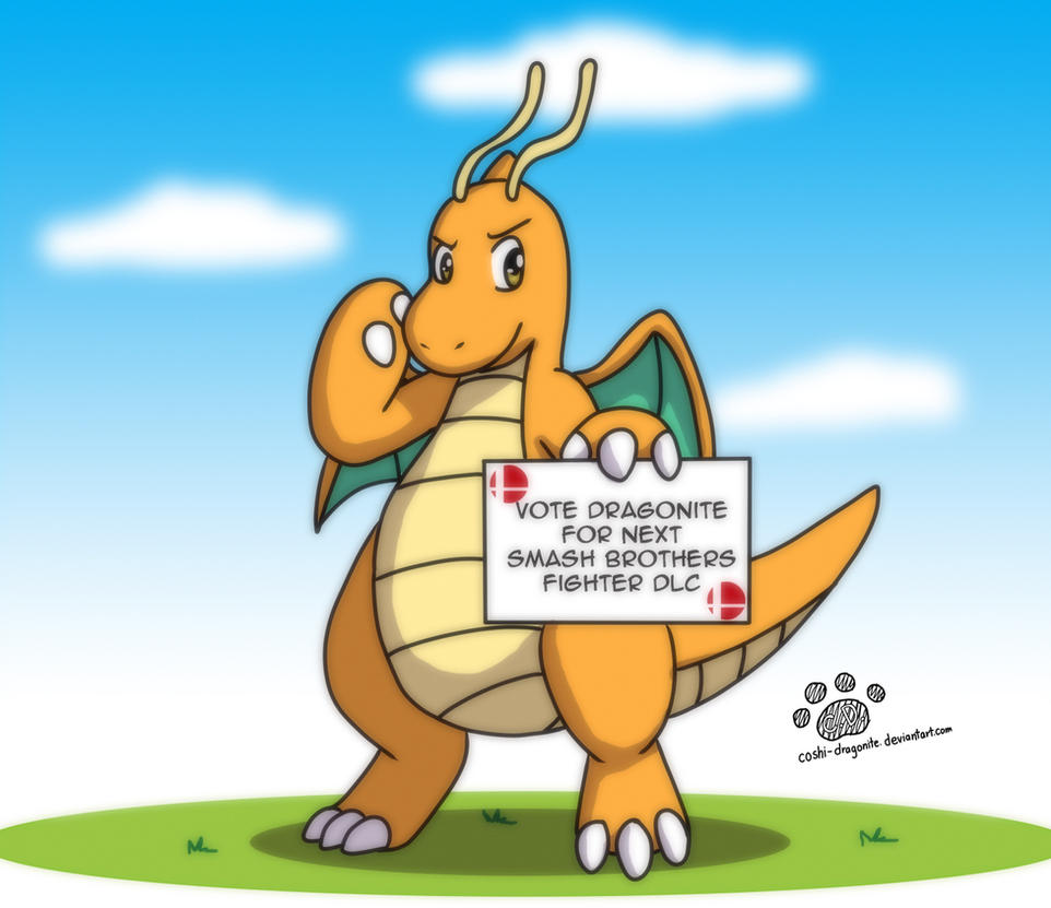 Vote Dragonite for next Smash Brothers Fighter DLC by Coshi-Dragonite
