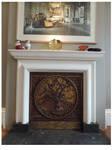 Oak Tree Fireplace Panel