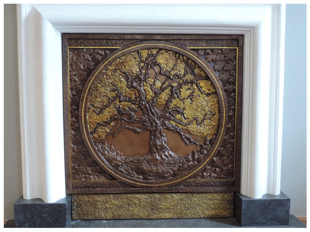 Oak Tree Fireplace Panel (detail1) by Legiongp