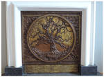 Oak Tree Fireplace Panel (detail1)