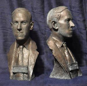 HP Lovecraft Book Shelf Bust