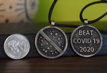 BEAT COVID 19 2020 Pendant front and back