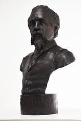 Edward Mitchell Bannister bronze bust