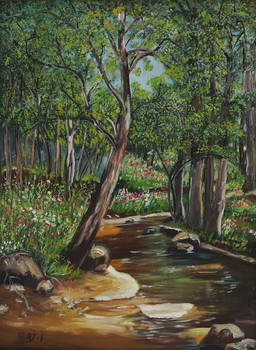Spring by the Riverbank