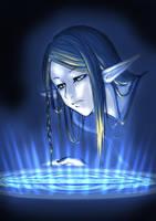 Elf with water by kazenokibou