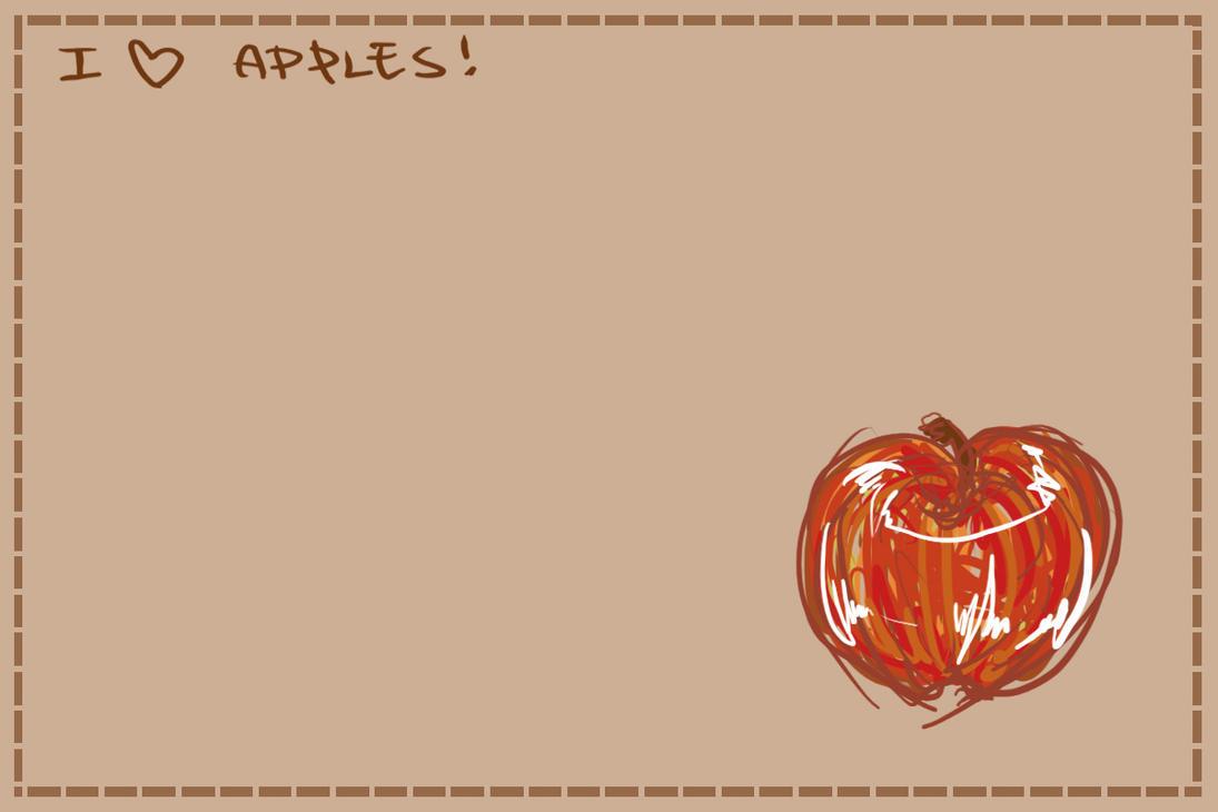 I heart Apples by kazenokibou
