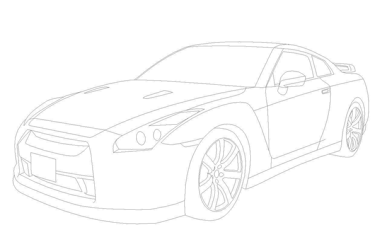 Line Drawing Nissan Gtr : Nissan gtr r lineart by dizzysam on deviantart
