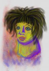 Scraggly Hair by freelymew