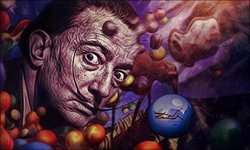 Salvador Dali by rancidfetus