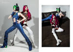 Jolyne and Anasui cosplay by SigmaNas