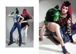 Jolyne and Anasui cosplay