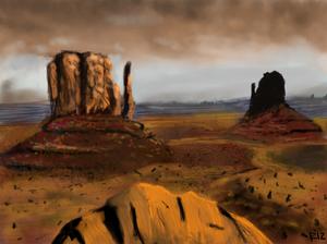 Desert Landscape Speedpaint