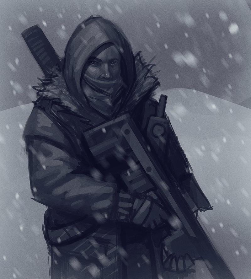 Sketch Man Winter by TanyaPaulik