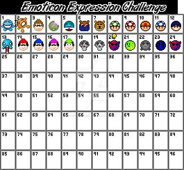 Emoticon Expression Challenge! by DigitalCubist