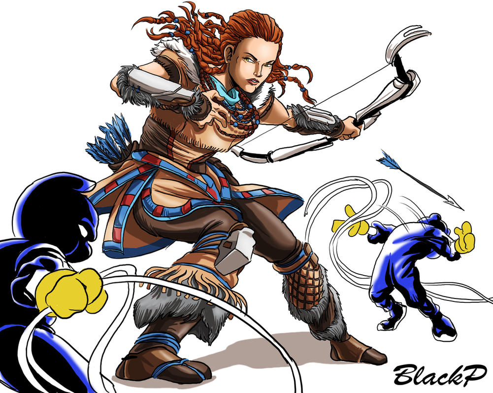 The kidnap of Aloy 1 by BlackProf